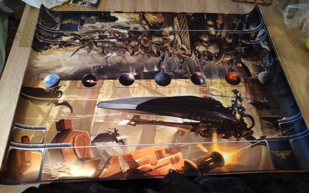 wydrukowana mata do Warhammer 40 000: Podbój