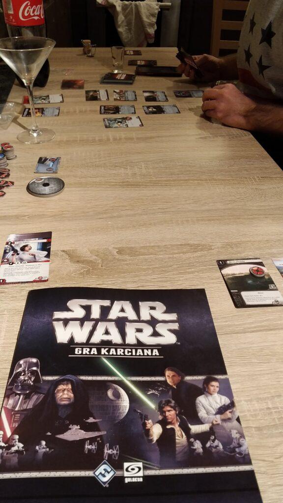 rozgrywka w Star Wars LCG bez maty